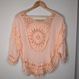 Coco & Tashi crochet top L/XL ✨host pick✨